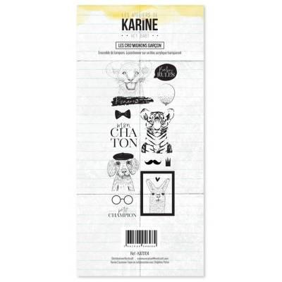 Tampons clear - Les Ateliers de Karine - Hey Baby - Les Cro'mignons garçon