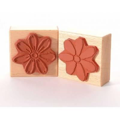 Tampon Bois - Heindesign - Double face - Fleur