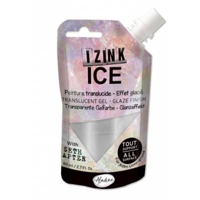 Peinture Izink Ice - Aladine - 80ml - Argent - Hailstone