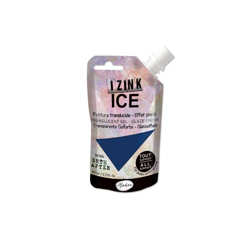 Peinture Izink Ice - Aladine - 80ml - Bleu Outremer Frostbite