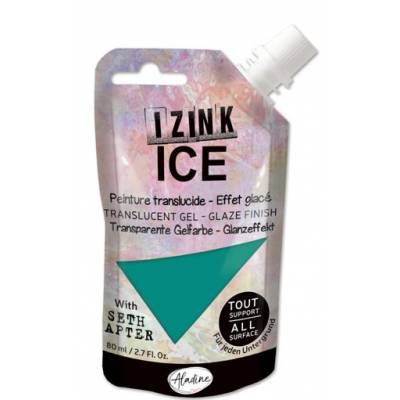 Peinture Izink Ice - Aladine - 80ml - Bleu Océan - Glacier Green
