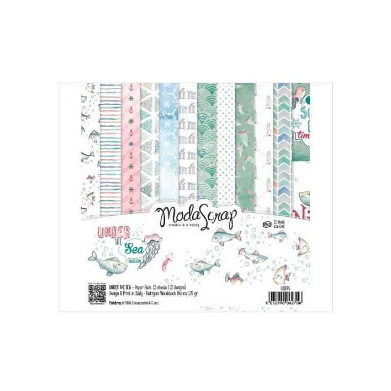 ModaScrap - Paper Pack 15.2x15.2 - Sous la mer