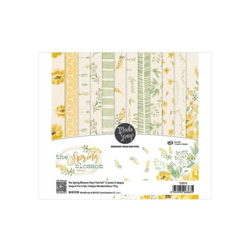 ModaScrap - Paper Pack 15.2x15.2 - Printemps fleuri