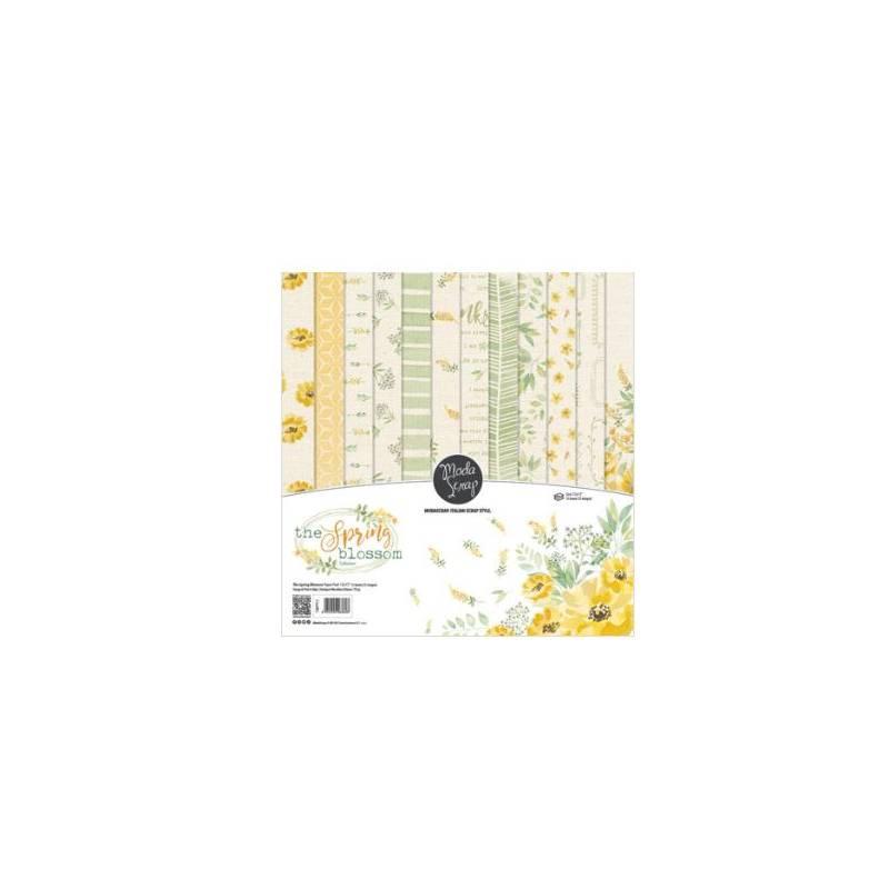 ModaScrap - Paper Pack 30.5 cm x 30.5 cm - Printemps fleuri