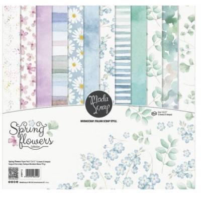 ModaScrap - Paper Pack 30.5 cm x 30.5 cm - Fleurs de printemps