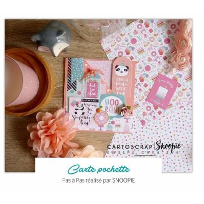 Carte Pochette Massicot Premium par Snoopie - Tuto