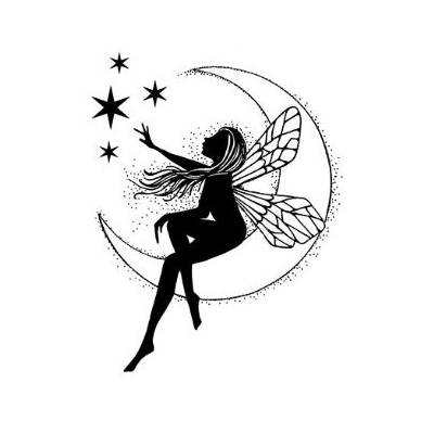 Tampon Clear - Lavinia - Fée de la lune - Moon Fairy