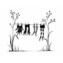 Tampon Clear - Lavinia - Etendoir de fée - Fairy Washing Line