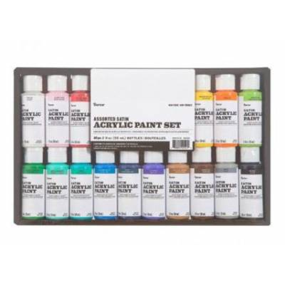Peintures Acryliques - Darice - 16 unités x 59ml - Satin