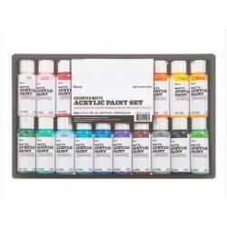 Peintures Acryliques - Darice - 16 unités x 59ml - Mat