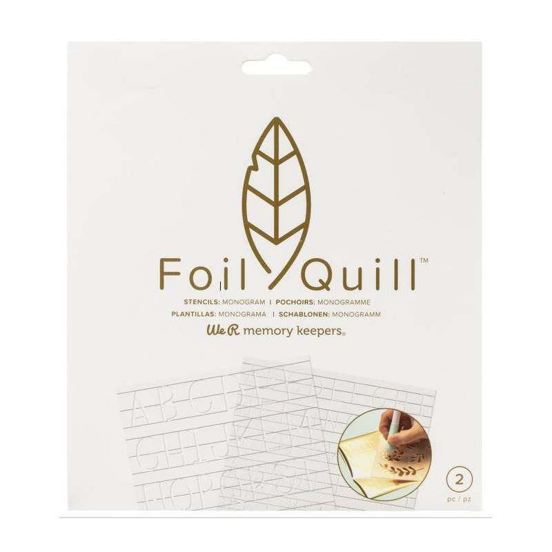 Foil Quill - Stencils Monogram - We R memory keepers
