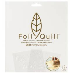 Foil Quill - Stencils Sentiments - We R memory keepers