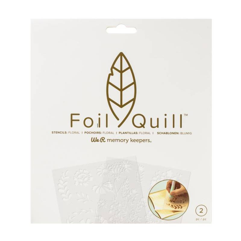 Foil Quill - Stencils Floral - We R memory keepers