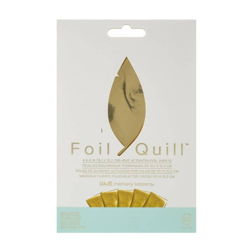 Foil Quill - 30 feuilles Gold Finch - We R memory keepers
