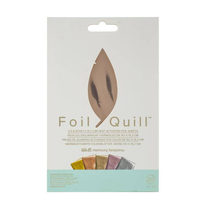 Foil Quill - 30 feuilles  Shining Starling- We R memory keepers