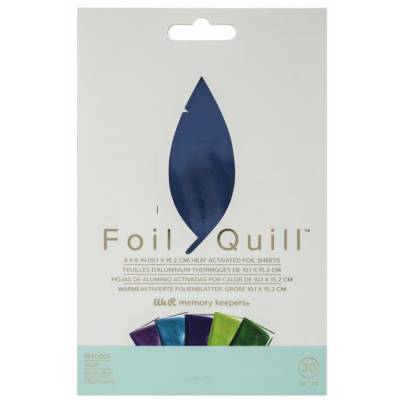 Foil Quill - 30 feuilles Peacock - We R memory keepers