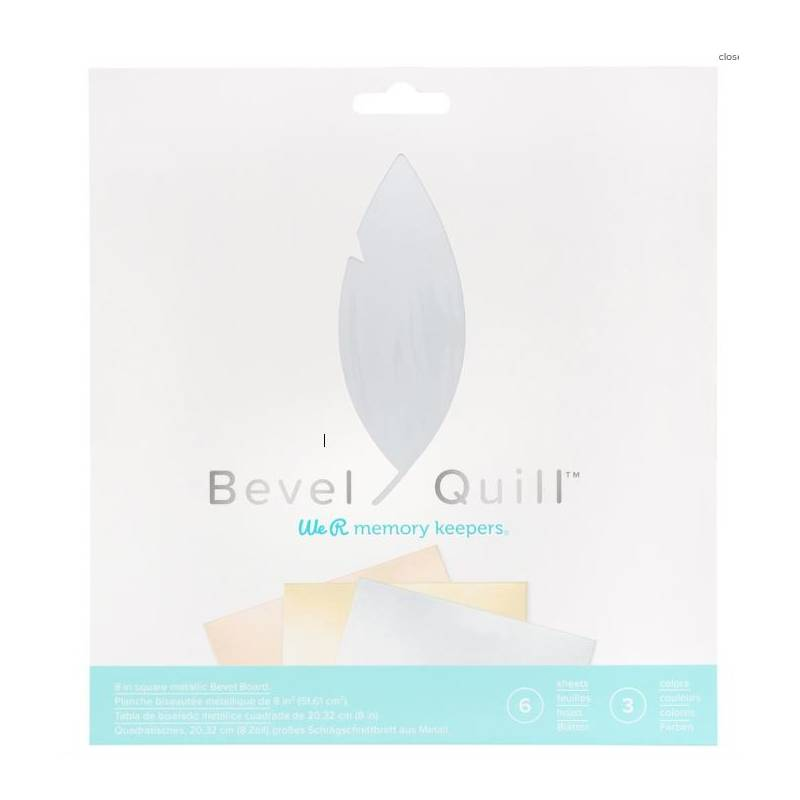 Bevel Quill - 6 feuilles - We R memory keepers
