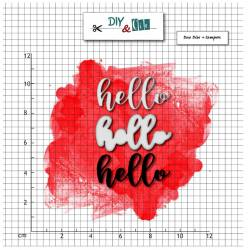 Dies et tampons - Hello - DIY and Cie