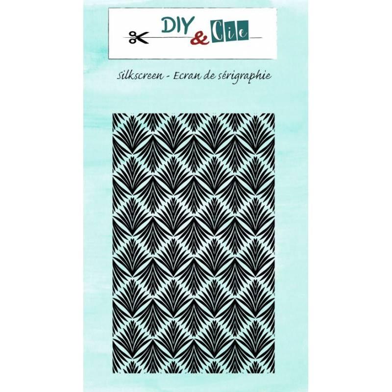 Pochoir Silkscreen - DIY & Cie - Feuilles Art Déco