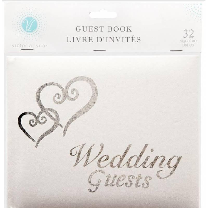 Guest Book - Livre d'invités Mariage - 32 pages - Argenté