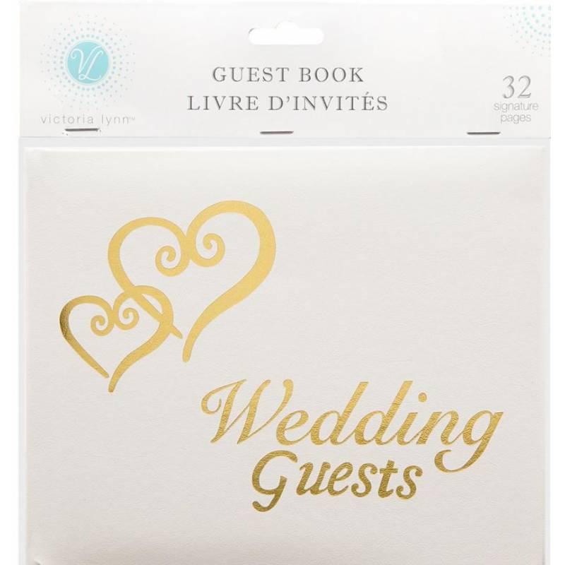 Guest Book - Livre d'invités Mariage - 32 pages - Doré