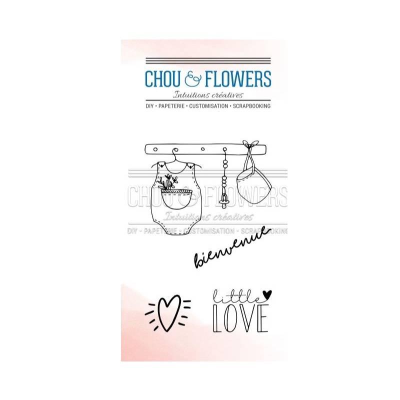 Tampons Clear - Chou & Flowers - Petit côté Famille - Little Love