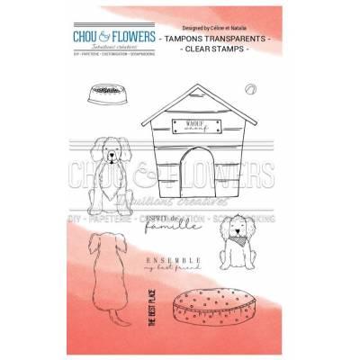 Tampons Clear - Chou & Flowers - Petit côté Famille - Best friends