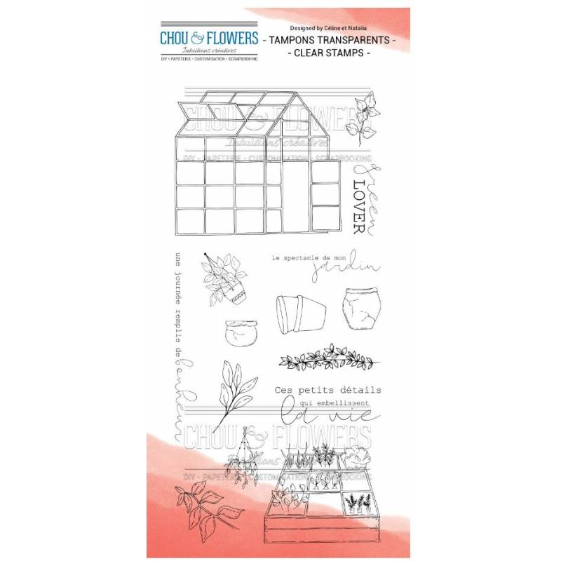 Tampons Clear - Chou & Flowers - Petit côté Jardin 1