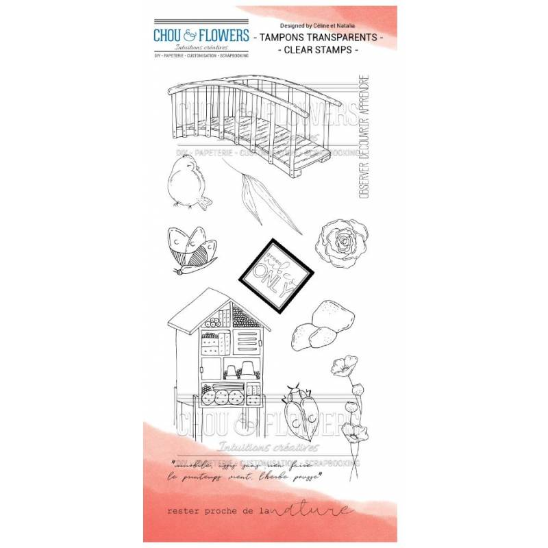 Tampons Clear - Chou & Flowers - Petit côté Jardin 2