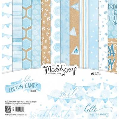 ModaScrap - Paper 30.5cm x 30.5cm - Coton bleu
