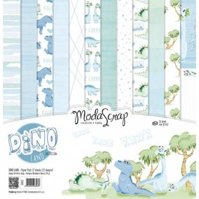 ModaScrap - Paper 30.5cm x 30.5cm - Dinosaures