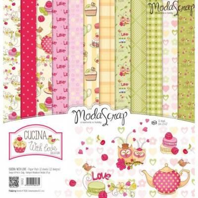 ModaScrap - Paper 30.5cm x 30.5cm - Cuisine Avec Amour