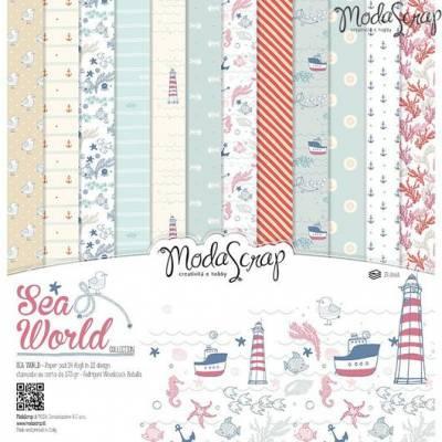 ModaScrap - Paper 30.5cm x 30.5cm - Monde la mer
