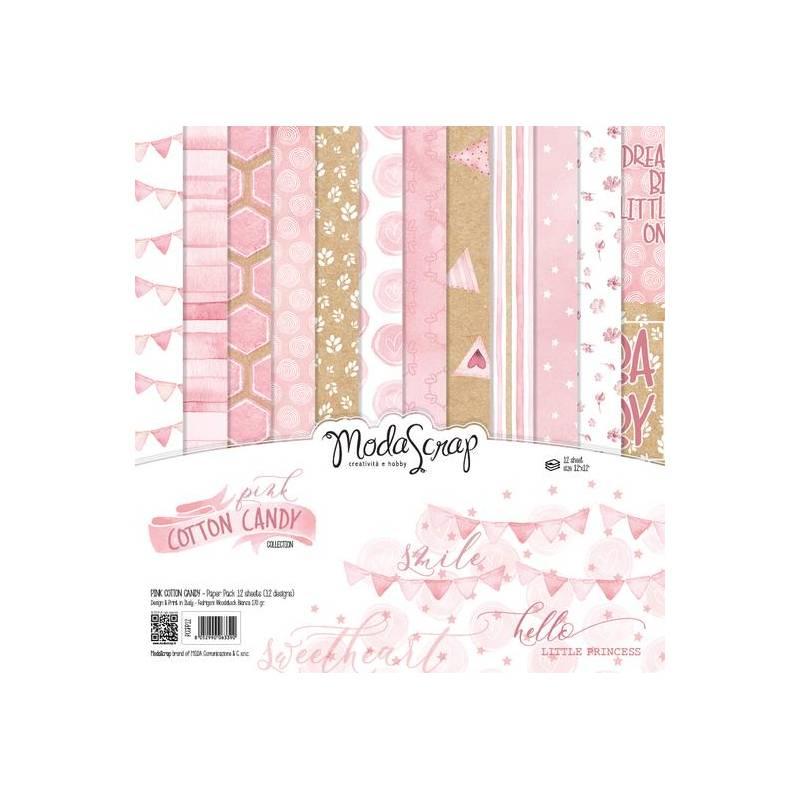 ModaScrap - Paper 30.5cm x 30.5cm - Coton rose