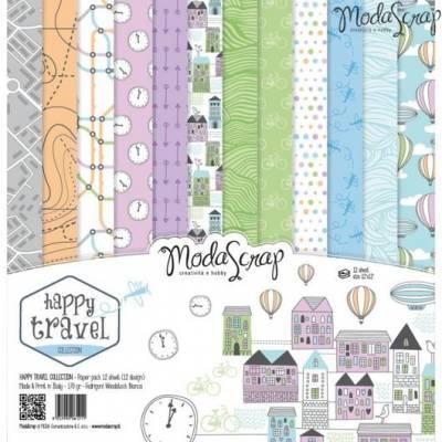 ModaScrap - Paper 30.5 cm x 30.5 cm - Voyage heureux