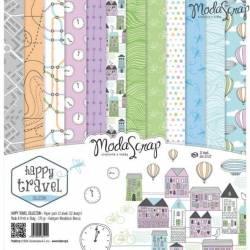 ModaScrap - Paper Pack 30.5 cm x 30.5 cm - Voyage heureux