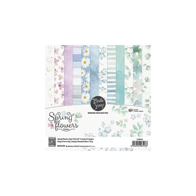 ModaScrap - Paper 15.2x15.2 - Fleurs de printemps