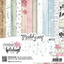 ModaScrap - Paper15.2x15.2 - Vacances Noël