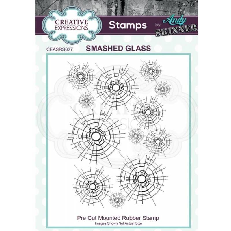 Tampons Cling - Creative Expressions - smashed glass