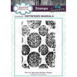 Tampons Cling - Creative Expressions - Distressed mandala