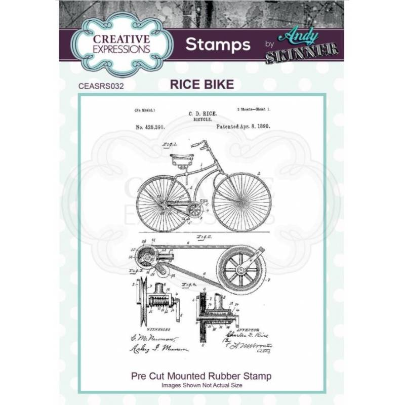 Tampons Cling - Creative Expressions - Rice Bike