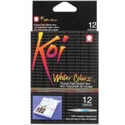 Boîte Aquarelles - Koi - 12 couleurs - Format Voyage
