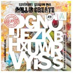 AALL & Create - Pochoir 029 - Lettres