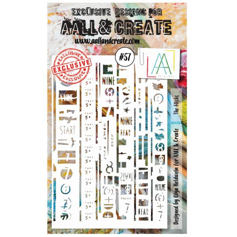 AALL & Create - Pochoir 057 - Signes