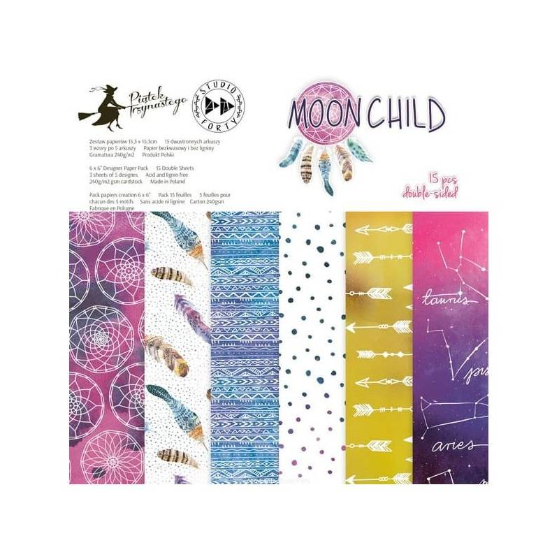 Pack 15.2 x 15.2 cm - Studio Forty - Moonchild