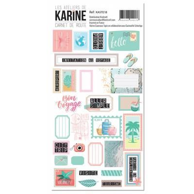 Les Ateliers de Karine - Carnet de route - Stickers - Etiquettes
