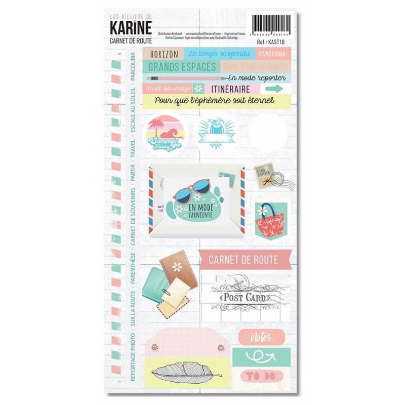 Les Ateliers de Karine - Carnet de route - Stickers - 15 x 30