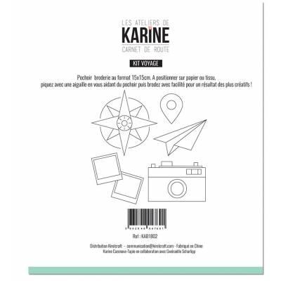 Pochoir - Les Ateliers de Karine - Carnet de Route - Kit voyage
