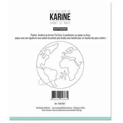 Pochoir - Les Ateliers de Karine - Carnet de Route - Mappemonde