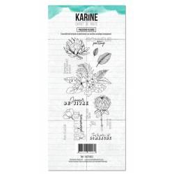 Tampons clear - Les Ateliers de Karine - Carnet de route - Passion Fleurs
